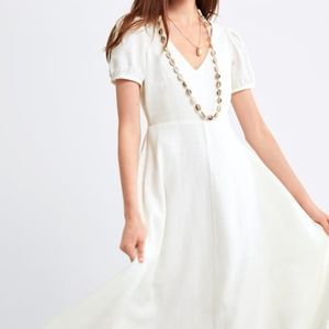 ZARA Puff Sleeve White dress Size XL NWT
